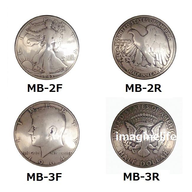 【送料無料(沖縄・離島を除く)】KC, ケーシーズ MB-S 50cent(Half Doller)コイン コンチョ 31ミリ【ケイシイズ/LEATHER CRAFT/財布/修理/カスタム】【お取り寄せ商品】