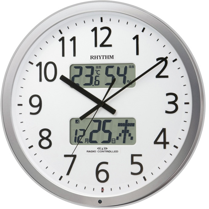 RHYTHM(リズム) 4FN404SR19 プログラムカレンダー404SR 電波掛け時計【リズム時計・掛時計・クロック】【お取り寄せ商品】【代引不可】