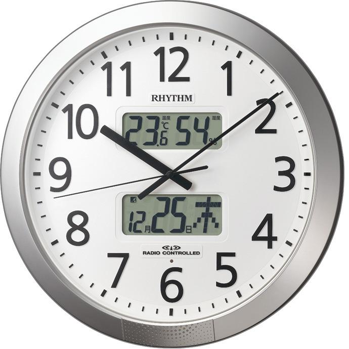 RHYTHM(リズム) 4FN403SR19 プログラムカレンダー403SR 電波掛け時計【リズム時計・掛時計・クロック】【お取り寄せ商品】【代引不可】