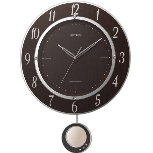 RHYTHM(リズム) 8MX403SR23 トライメテオDX 電波掛時計【リズム時計・掛け時計・クロック】【お取り寄せ商品】【代引不可】