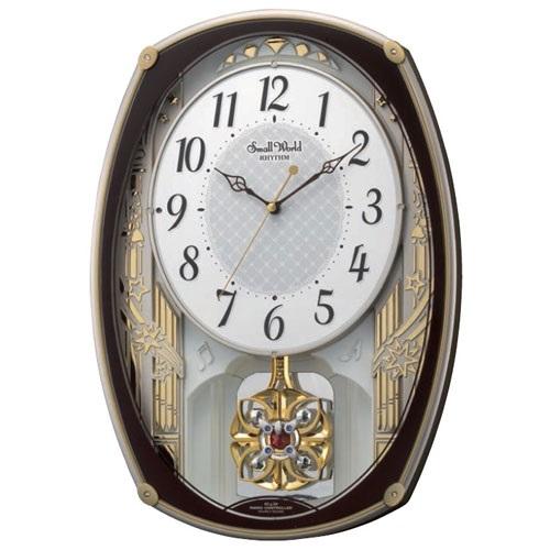 リズム時計 4MN540RH06 スモールワールドレジーナ 電波アミューズ時計【掛時計・クロック】【お取り寄せ商品】【代引不可】