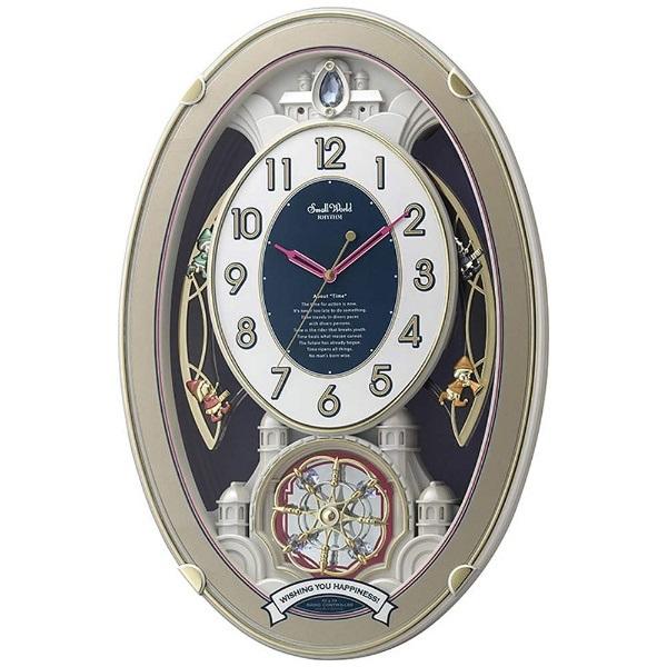 リズム時計 4MN544RH18 スモールワールドウィッシュ 電波アミューズ時計【掛時計・クロック】【お取り寄せ商品】【代引不可】