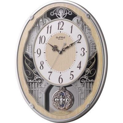 リズム時計 4MN538RH23 スモールワールドクラッセ 電波アミューズ時計【掛時計・クロック】【お取り寄せ商品】【代引不可】
