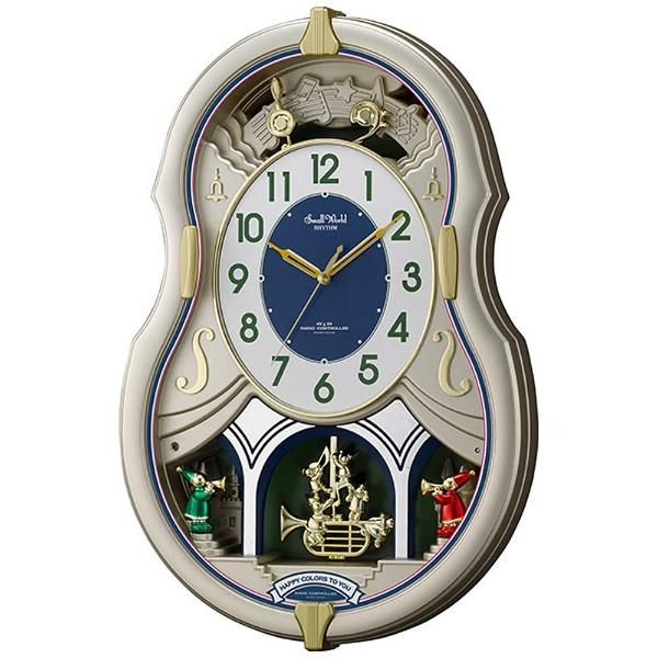 リズム時計 4MN543RH18 スモールワールドカラーズ 電波アミューズ時計【掛時計・クロック】【お取り寄せ商品】【代引不可】