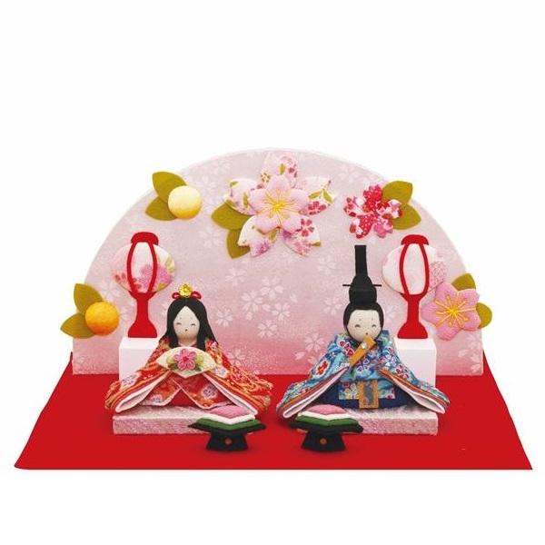 リュウコドウ 1-837 雛人形 雛飾り にこにこ桜雛飾り【お取り寄せ商品】【送料無料(沖縄・離島を除く)】