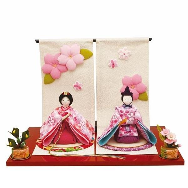 リュウコドウ 1-854 雛人形 雛飾り 春桜雛【お取り寄せ商品】【送料無料(沖縄・離島を除く)】