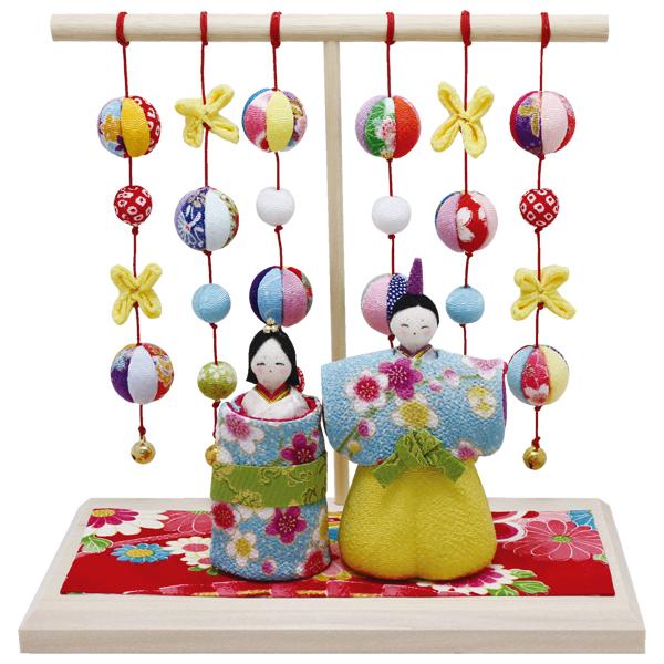 リュウコドウ 1-700 雛人形 水色立雛 几帳台付【お取り寄せ商品】【雛人形/ひな祭り/お雛様】