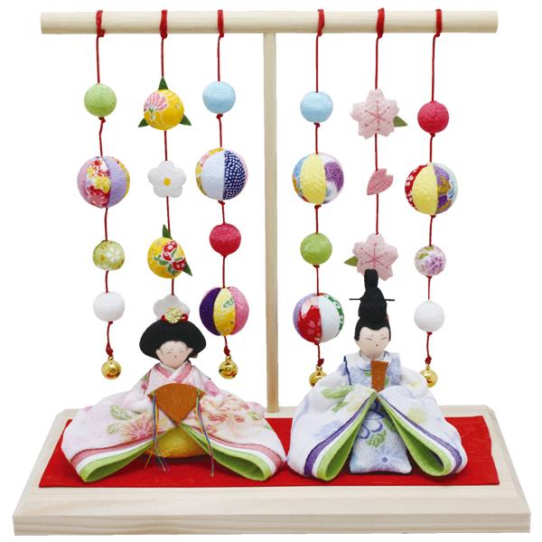 リュウコドウ 1-701 雛人形 淡色座雛 几帳台付【お取り寄せ商品】【雛人形/ひな祭り/お雛様】
