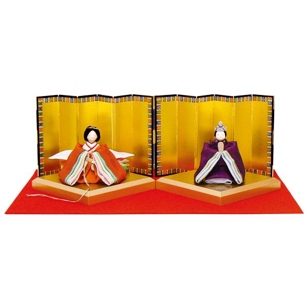 リュウコドウ 1-655 雛人形 金襴古代雛飾り【お取り寄せ商品】【雛人形/ひな祭り/お雛様】