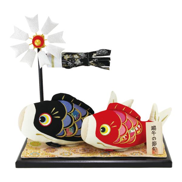 【送料無料(沖縄・離島を除く)】リュウコドウ 2-387 五月人形 和ぐるみ絢飾鯉親子飾り 【お取り寄せ商品】【端午の節句/五月人形/兜飾り/鯉のぼり】