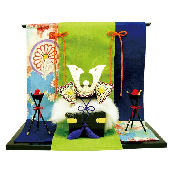 リュウコドウ 2-305 五月人形 敷几帳付 飾り兜 【お取り寄せ商品】【端午の節句/五月人形/兜飾り/鯉のぼり】