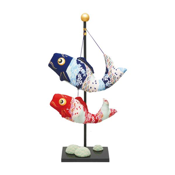 リュウコドウ 2-115 五月人形 ちりめん(特大)跳ね鯉 2匹 【お取り寄せ商品】【端午の節句/五月人形/兜飾り/鯉のぼり】