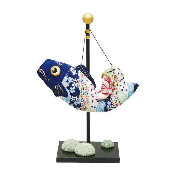 リュウコドウ 2-116 五月人形 ちりめん(特大)跳ね鯉のり金太郎 【お取り寄せ商品】【端午の節句/五月人形/兜飾り/鯉のぼり】