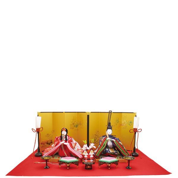 【送料無料(沖縄・離島を除く)】リュウコドウ 1-721 雛人形 東山金襴雛【お取り寄せ商品】【雛人形/ひな祭り/お雛様】