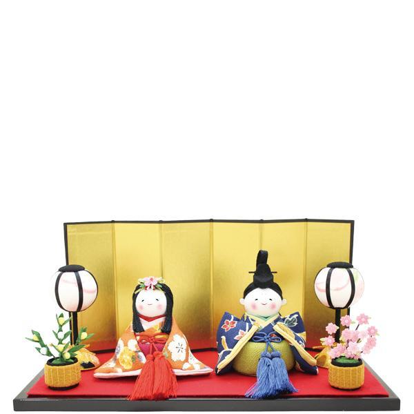 【送料無料(沖縄・離島を除く)】リュウコドウ 1-730 雛人形 古布調おさな雛飾り【お取り寄せ商品】【雛人形/ひな祭り/お雛様】