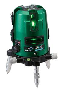 KDS レーザー墨出し器 スーパーレイ ATL-25GRSA 抜群の視認性を誇る高輝度グリーン 本体・受光器・三脚のフルセット たち/水平/地墨 [送料無料][代引不可][北海道,沖縄は送料別途1,080円]