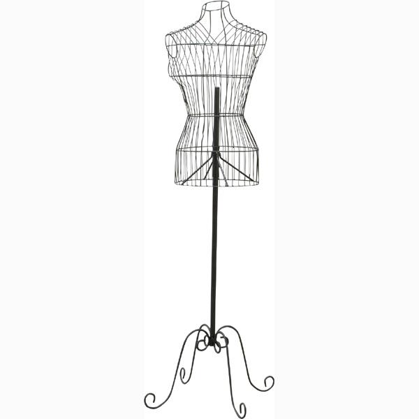 東谷 ワイヤートルソー マネキン ファッションディスプレー ブラック MIP-015NBK