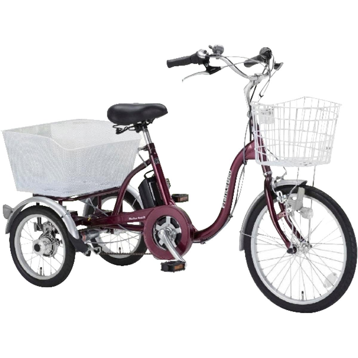フランスベッド 電動アシスト三輪自転車 ASU-3W01 エンジ色