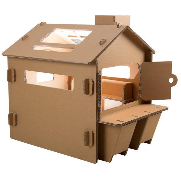 FunnyPaper(ファニーペーパー) Paper House-Caf?(big) 段ボールハウス CKPL_103 82.2X107.0X98.3cm