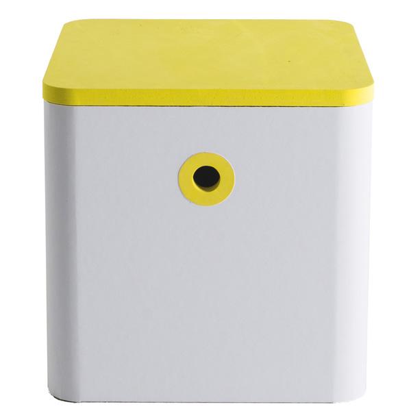 FunnyPaper(ファニーペーパー) Block stool(Yellow) 段ボールスツール CKSI_203 30.0x30.0x30.0cm