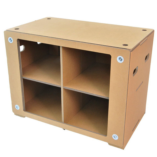 FunnyPaper(ファニーペーパー) Display Table 1200 段ボール収納家具 CEDI_102 120.0X60.0X75.0cm