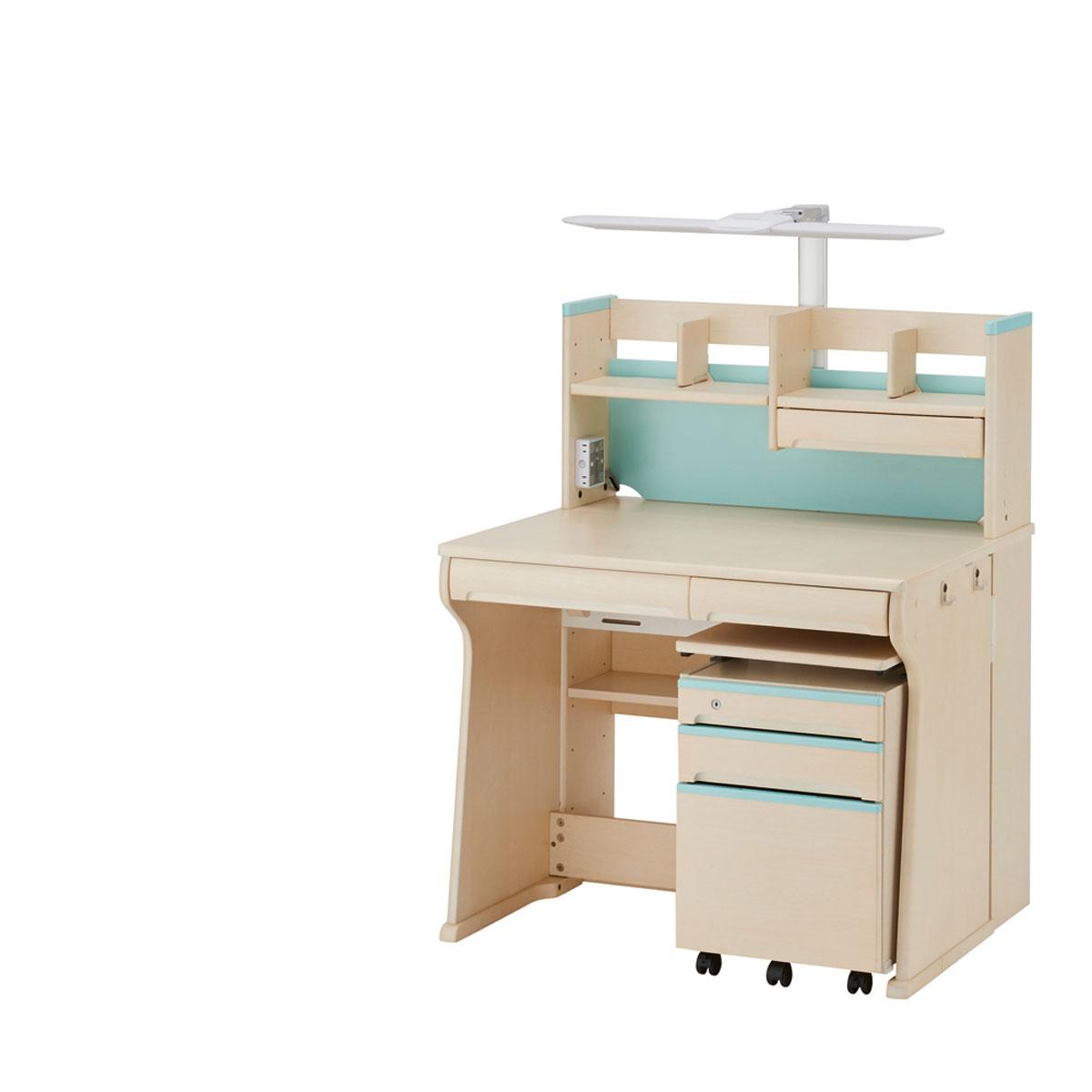 イトーキ ジョイカラーネオ 組みかえ型デスク 幅95×奥行75.5・88.5×高さ118cm アイスブルー HU-F02CB-L51ES