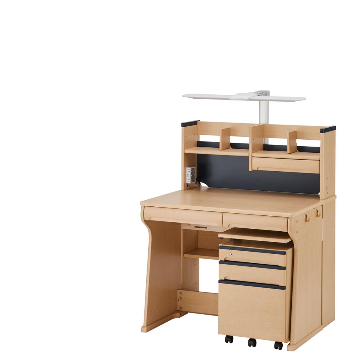 イトーキ ジョイカラーネオ 組みかえ型デスク 幅95×奥行75.5・88.5×高さ118cm ネイビー HU-F03NY-L51ES