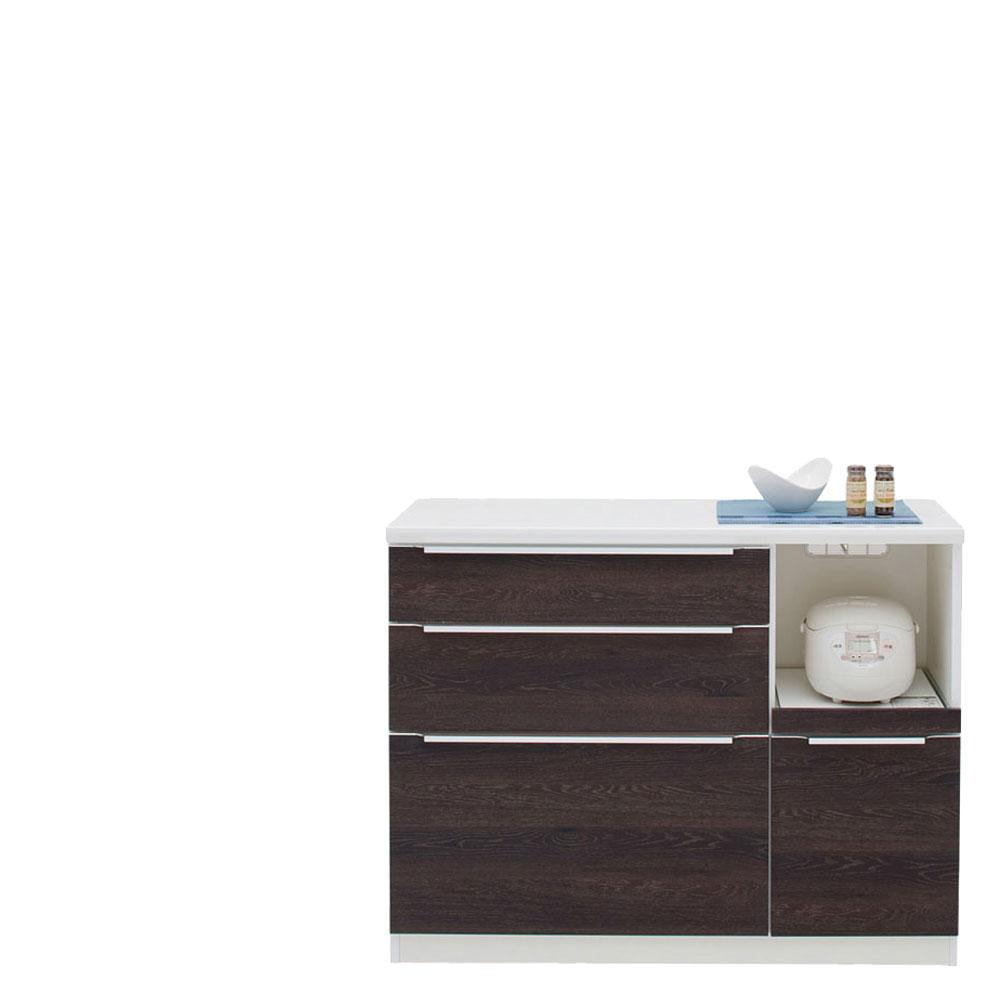 共和産業 コロン キッチンカウンター 120 ブラウン【幅120.3×高さ93cm】 日本製 国産
