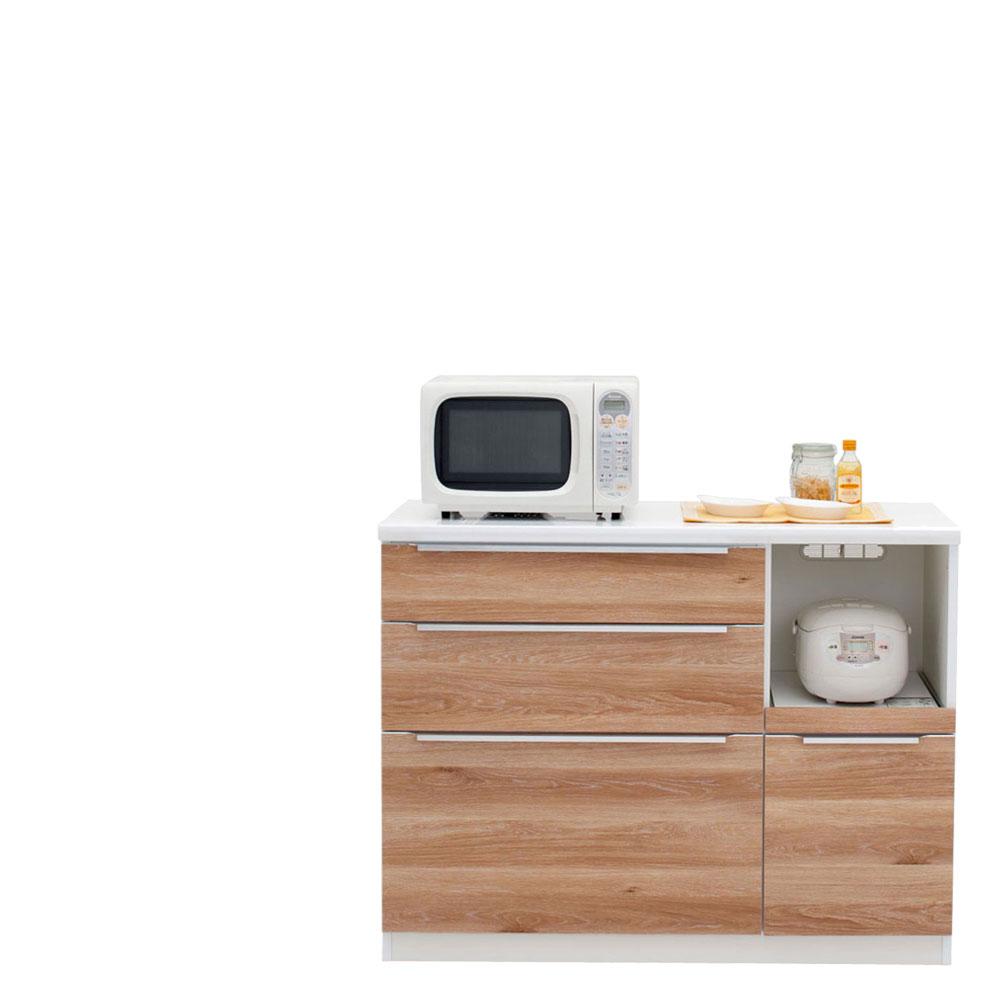 共和産業 コロン キッチンカウンター 120 ナチュラル【幅120.3×高さ93cm】 日本製 国産