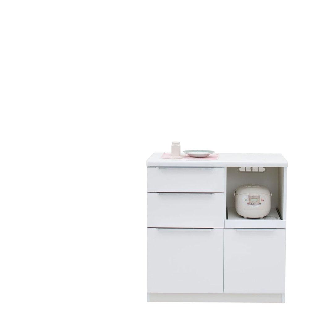 共和産業 コロン キッチンカウンター 90 ホワイト【幅90.3×高さ93cm】 日本製 国産