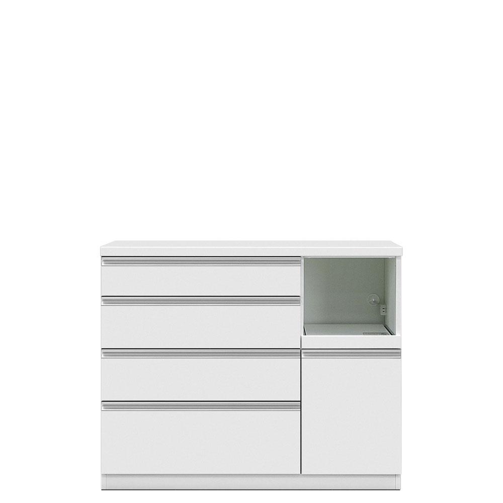 共和産業 グラッセ キッチンカウンター 下台H 120H ホワイト【幅120×高さ98cm】 日本製 国産