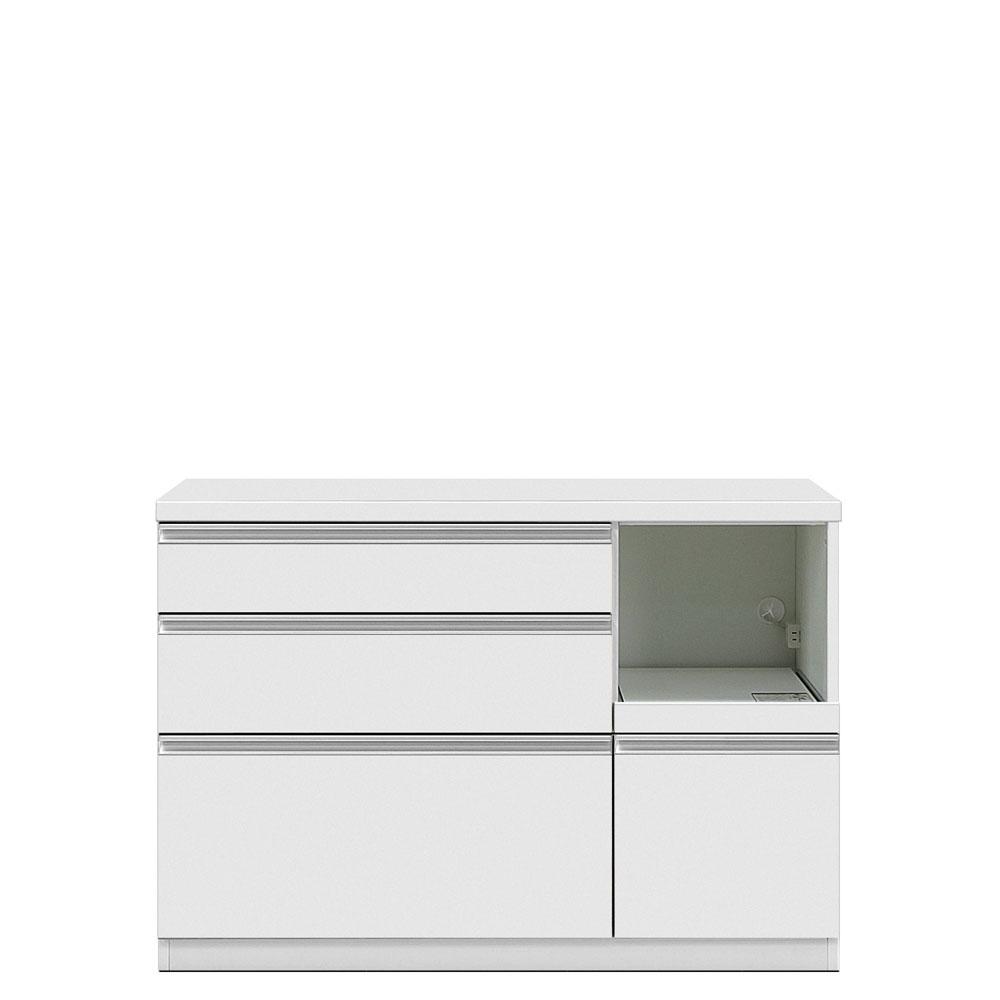 共和産業 グラッセ キッチンカウンター 下台L 120L ホワイト【幅120×高さ83cm】 日本製 国産