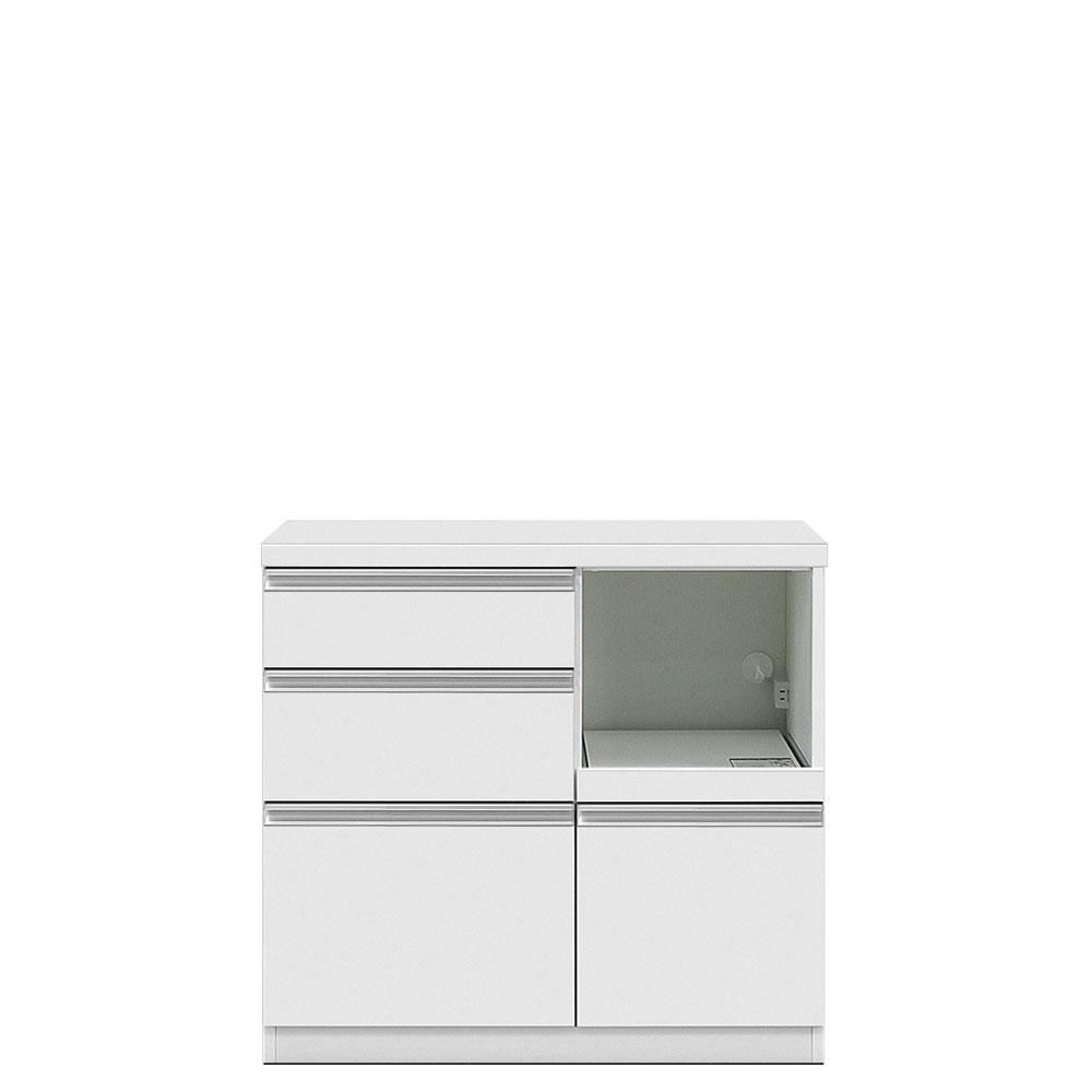 共和産業 グラッセ キッチンカウンター 下台L 90L ホワイト【幅90×高さ83cm】 日本製 国産