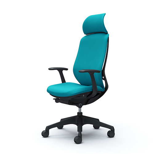 【不要チェア引取無料】 オカムラ シルフィー エキストラハイバック クッション デザインアーム 樹脂脚 C64CXR-FSG6 ブルーグリーン