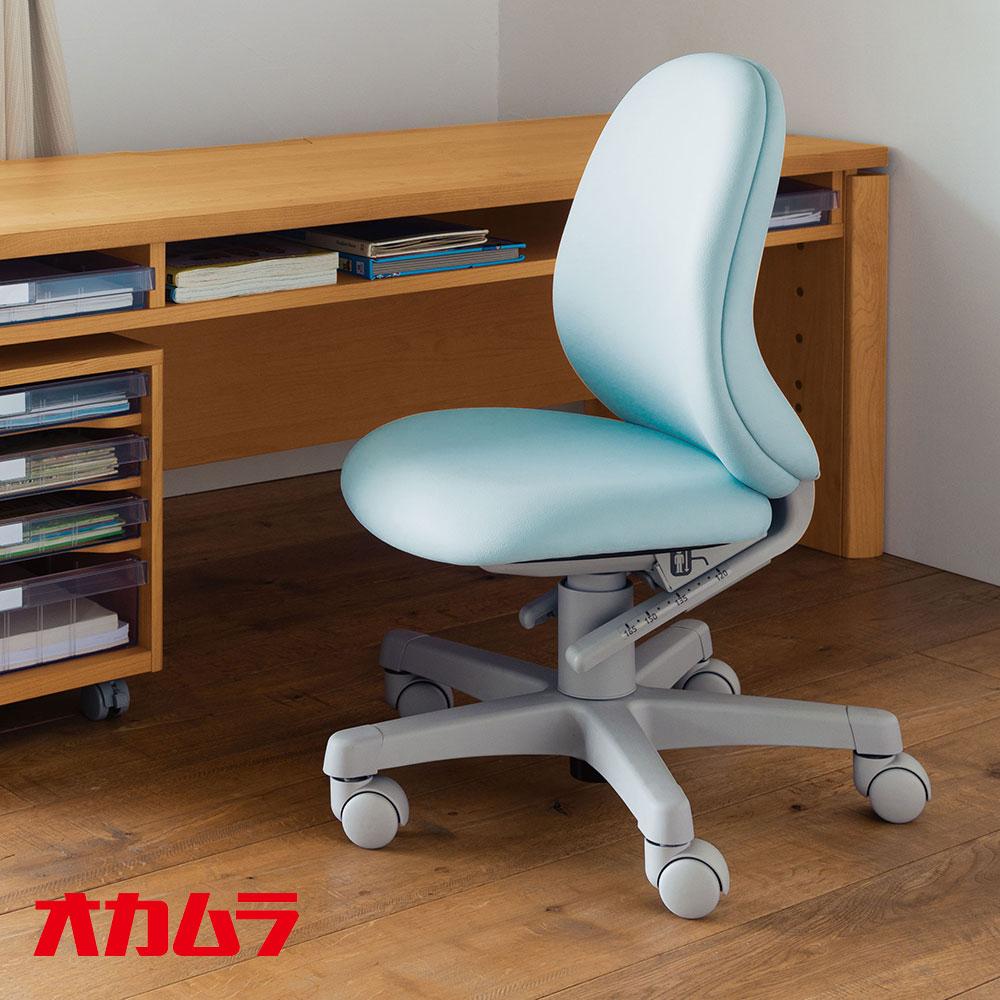 オカムラ アルソスビーンズ 回転椅子 ソフトレザータイプ クロスタイプ ライトブルー グリーン ドットレッド 8610FZ 8610JZ PB51 PB53 FV31 学習椅子