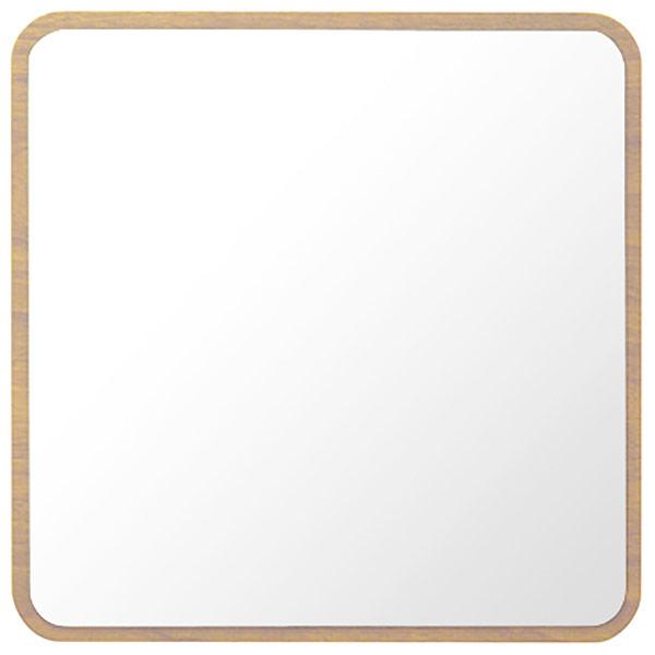 塩川光明堂 ハビット ウォールミラー 【幅35×奥行5.8×高さ35cm】 ナチュラル Hbit-square-NA 新生活