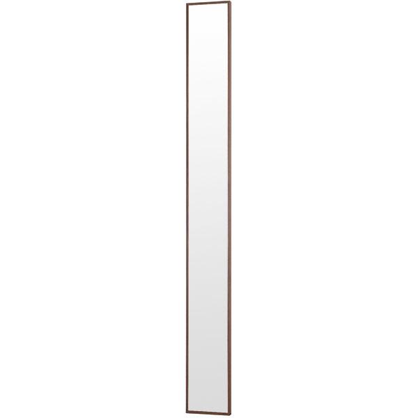 塩川光明堂 フィル ウォールミラー 【幅20×奥行3×高さ180cm】 ダークブラウン Slim1800DB