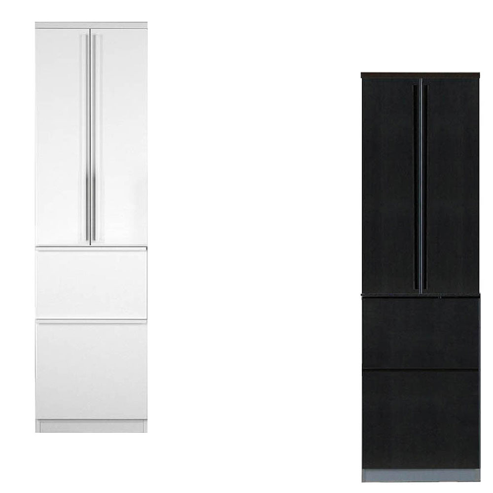 高橋木工所 ラフィックス キッチンボード 60ダイニング 幅60.3×奥行52 高208cm ホワイト 【3個口】 家電ボード 食器棚