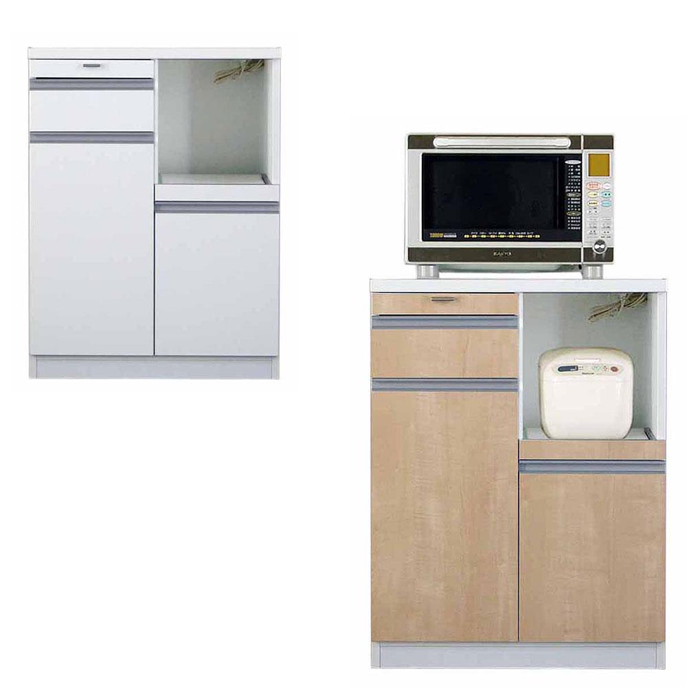 高橋木工所 スマートII キッチンボード 70Wカウンター 幅70.3×奥行51×高さ93cm ホワイト 家電ボード 食器棚 新生活