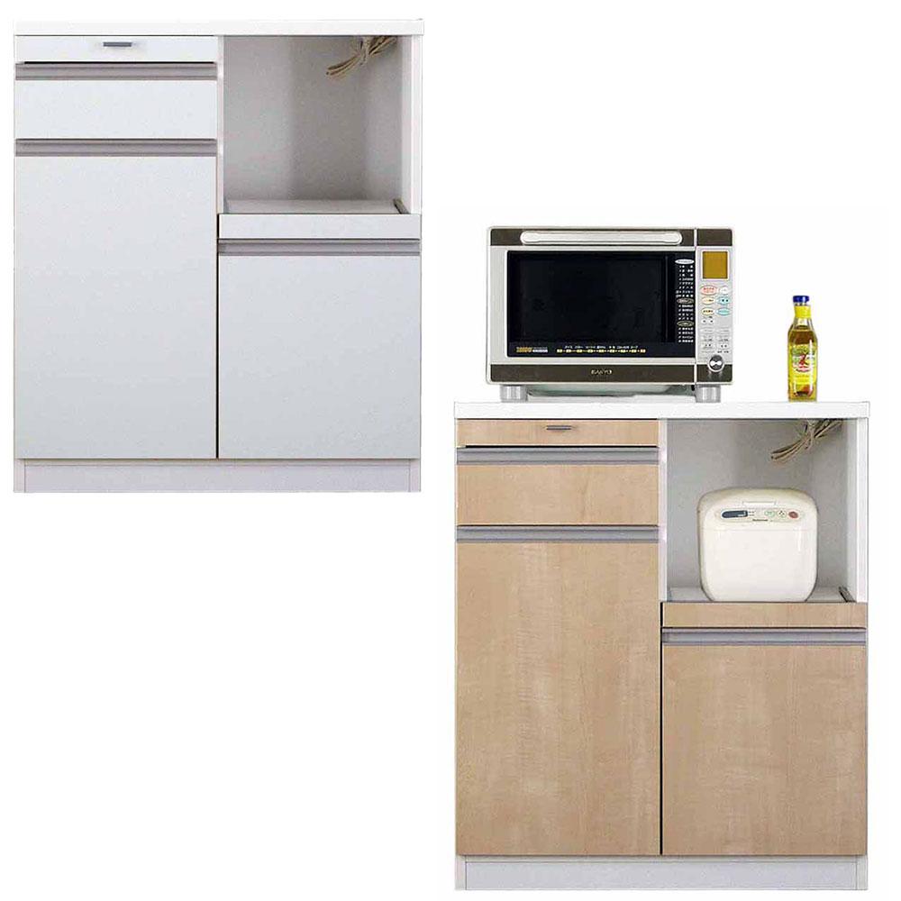 高橋木工所 スマートII キッチンボード 80Wカウンター 幅80.3×奥行51×高さ93cm ホワイト 家電ボード 食器棚