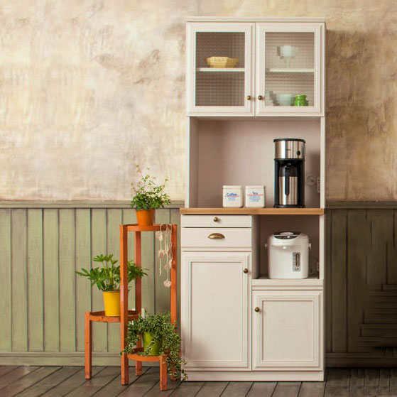 ユーアイ クリチコ フレンチカントリー調 食器棚 キッチンボード 木目ホワイト K-700HOP