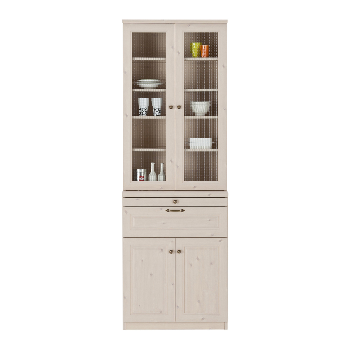 ユーアイNEO マーゴット カントリー調 食器棚 ホワイト木目 K-700H Margott