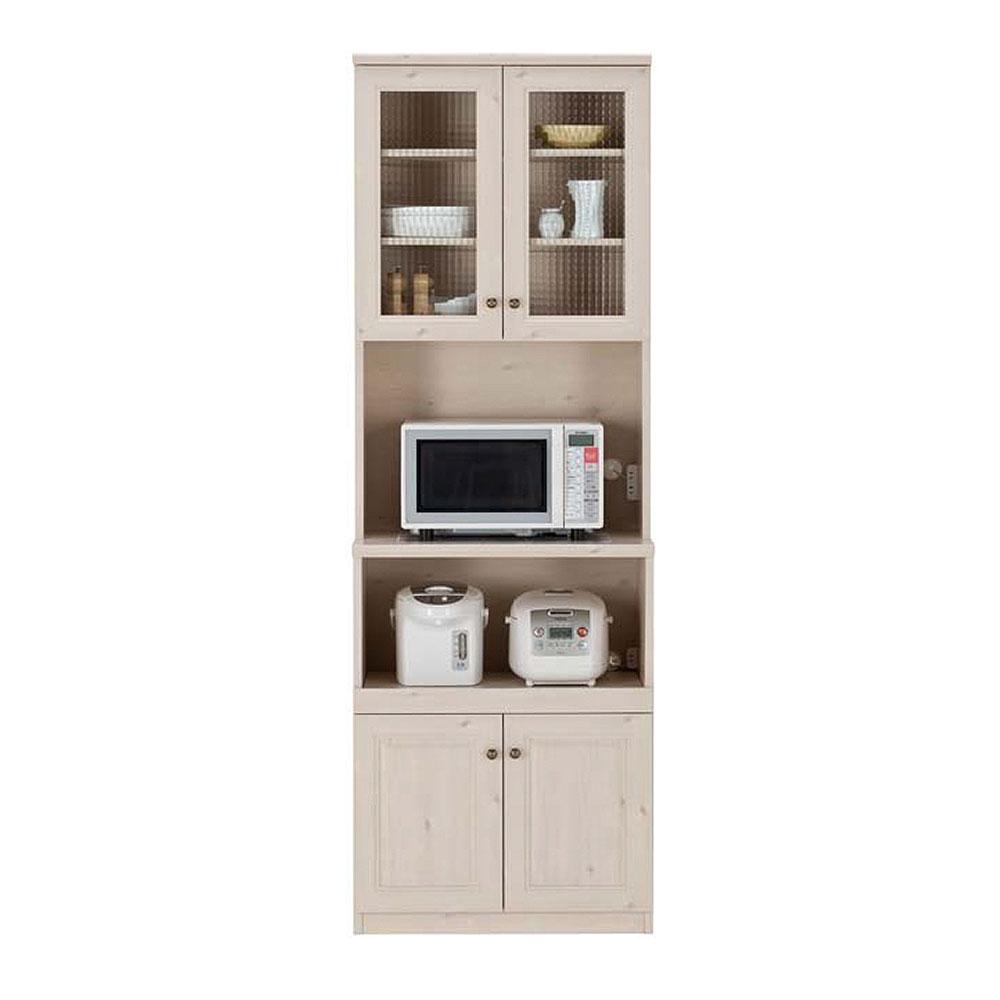 ユーアイNEO マーゴット カントリー調 食器棚 ホワイト木目 K-700HOP Margott