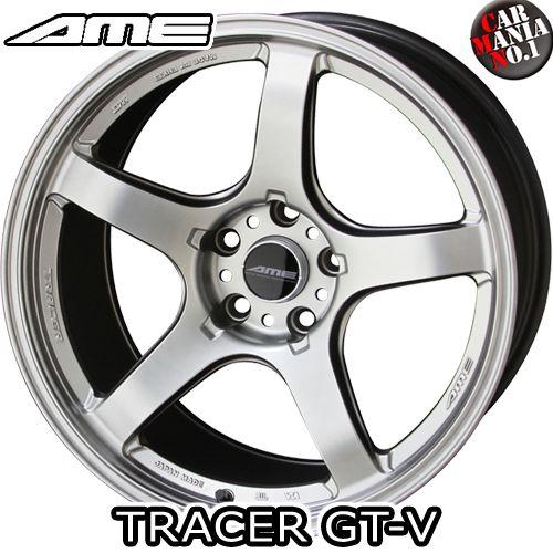 (2本セット) 18×10.5J +15 5/114.3 共豊(キョウホウ) AME トレーサーGT-V カラー:マットハイパーシルバー 18インチ 5穴 P.C.D114.3 ホイール新品2本 KYOHO AME SPORT TRACER GT-V