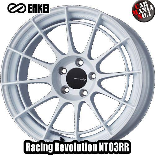 17×8.0J +48 5/100 ENKEI(エンケイ) レーシングレボリューション NT03RR カラー:GW 17インチ 5穴 P.C.D100 ホイール新品1本 Racingr Rvolution