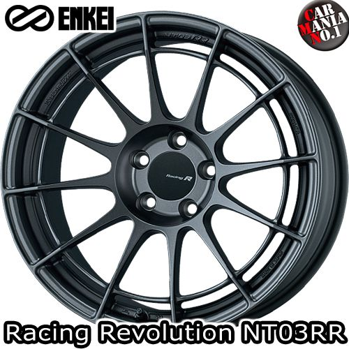 17×8.0J +45 5/120 ENKEI(エンケイ) レーシングレボリューション NT03RR カラー:MDG 17インチ 5穴 P.C.D120 ボア径:φ72.5 ホイール新品1本 Racingr Rvolution
