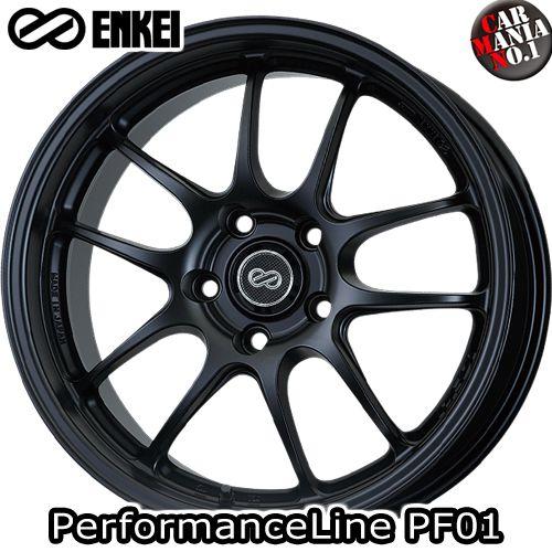 【4本セット】 ENKEI(エンケイ) パフォーマンスライン PF01. 18×8.5J +48 5/114.3 カラー:MBK 18インチ 5穴 P.C.D114.3 ホイール新品4本 PerformanceLine PF01.