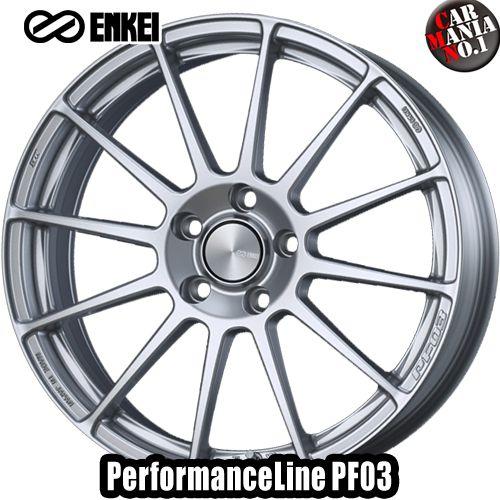 【2本セット】 ENKEI(エンケイ) パフォーマンスライン PF03 17×7.0J +50 5/100 カラー:SS 17インチ 5穴 P.C.D100 ホイール新品2本 PerformanceLine PF03