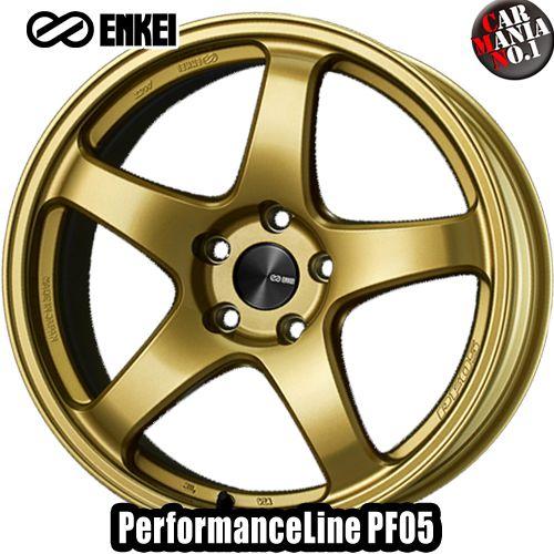 19×8.0J +45 5/114.3 ENKEI(エンケイ) パフォーマンスライン PF05 カラー:Gold 19インチ 5穴 P.C.D114.3 ホイール新品1本 PerformanceLine