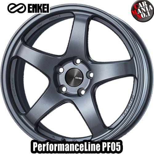 【2本セット】 ENKEI(エンケイ) パフォーマンスライン PF05 18×10.5J +15 5/114.3 カラー:MDG 18インチ 5穴 P.C.D114.3 ホイール新品2本 PerformanceLine PF05
